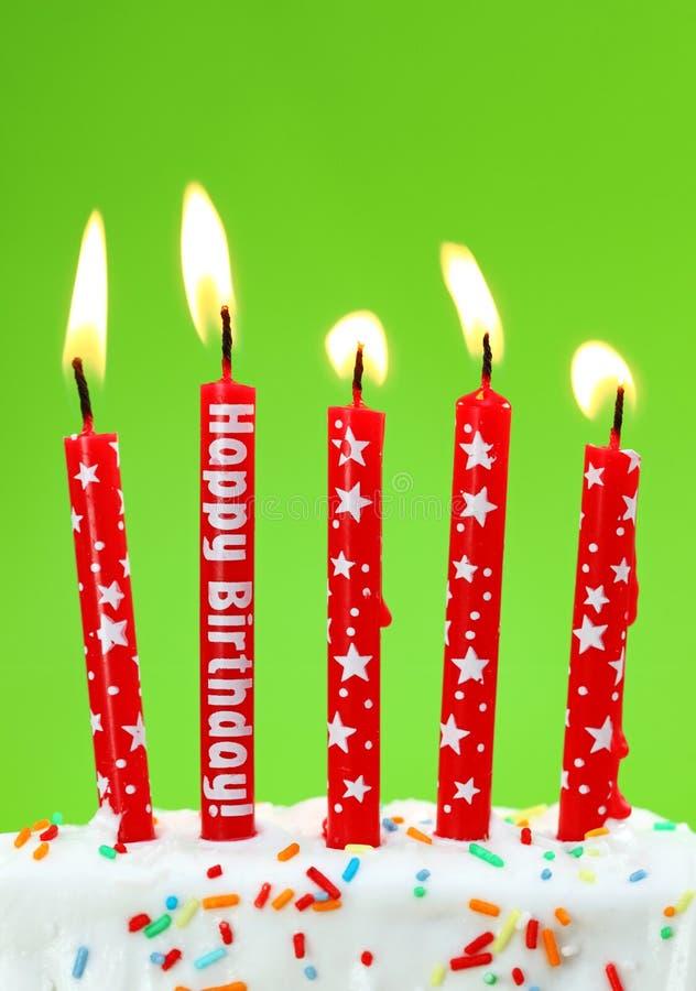 kolorowe urodzinowe świeczki obrazy royalty free