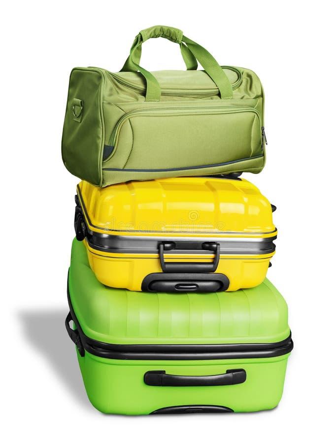 Kolorowe wielkie walizki fotografia royalty free