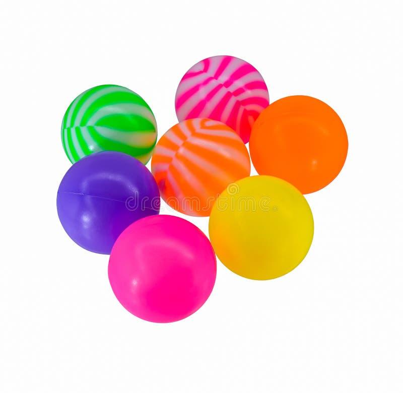 Kolorowe zabawkarskie plastikowe piłki zdjęcia royalty free