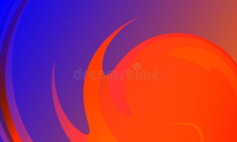 Kolorowego abstrakcjonistycznego tła wektorowy projekt, kolorowy ocieniony tło, żywa koloru wektoru ilustracja ?rodowisko royalty ilustracja