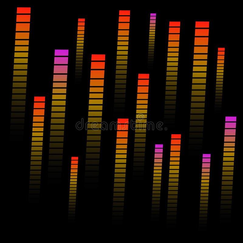Kolorowego abstrakta wzoru fadingu gradientowe linie, ślada, halftone lampasy Ekstremum wzór Sporta wzór royalty ilustracja