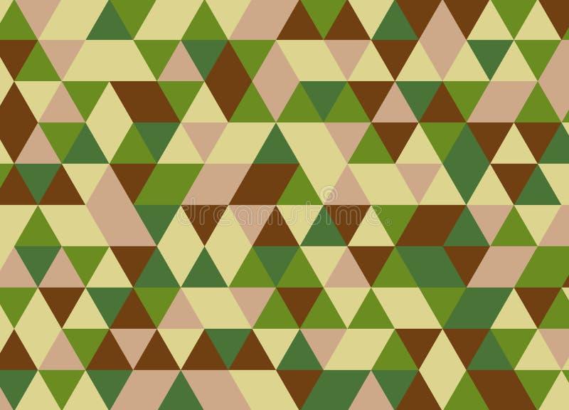 Kolorowego geometrycznego trójboka bezszwowy wzór Abstrakcjonistyczni wektorowi półdupki ilustracja wektor
