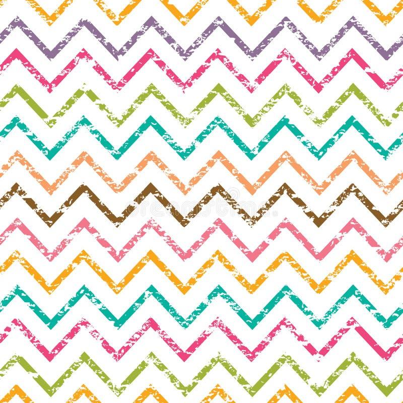 Kolorowego grunge szewronu bezszwowy wzór ilustracji