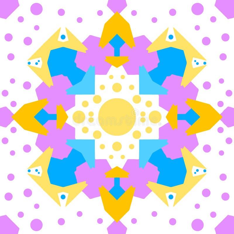Kolorowego kalejdoskopu Bezszwowy t?o ilustracja wektor