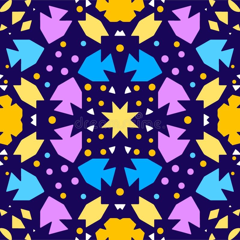 Kolorowego kalejdoskopu Bezszwowy t?o ilustracji