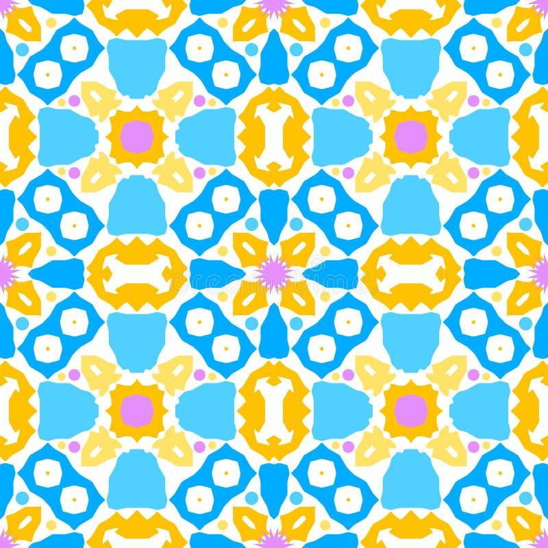 Kolorowego kalejdoskopu bezszwowy wzór 2 royalty ilustracja