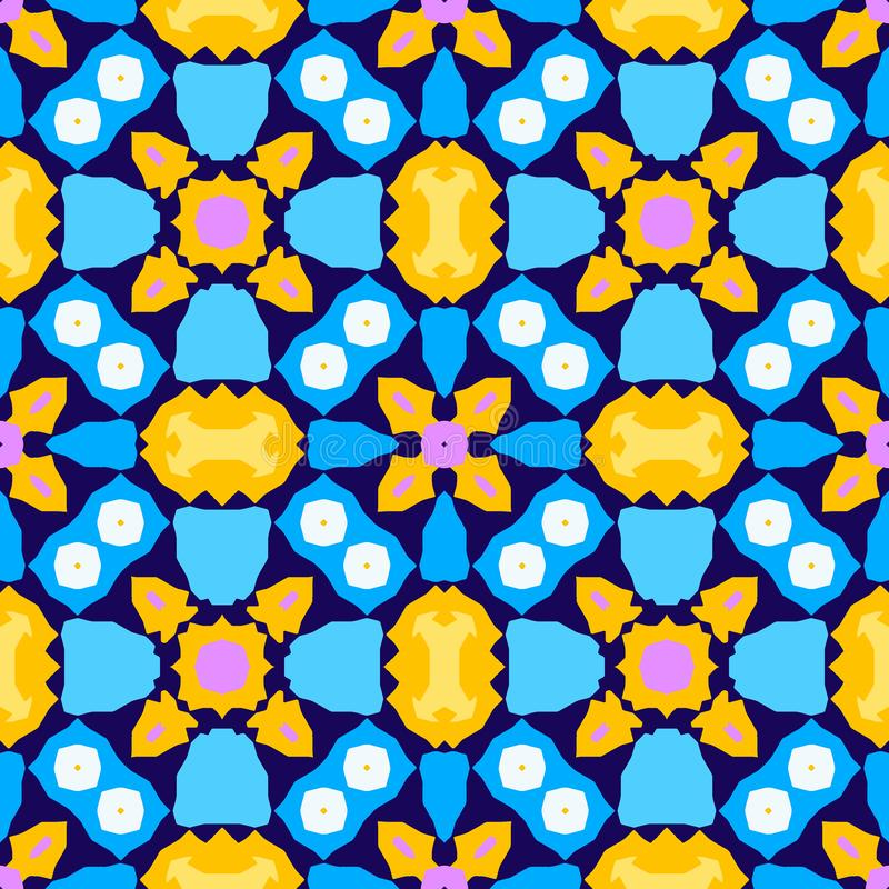 Kolorowego kalejdoskopu bezszwowy wzór ilustracji