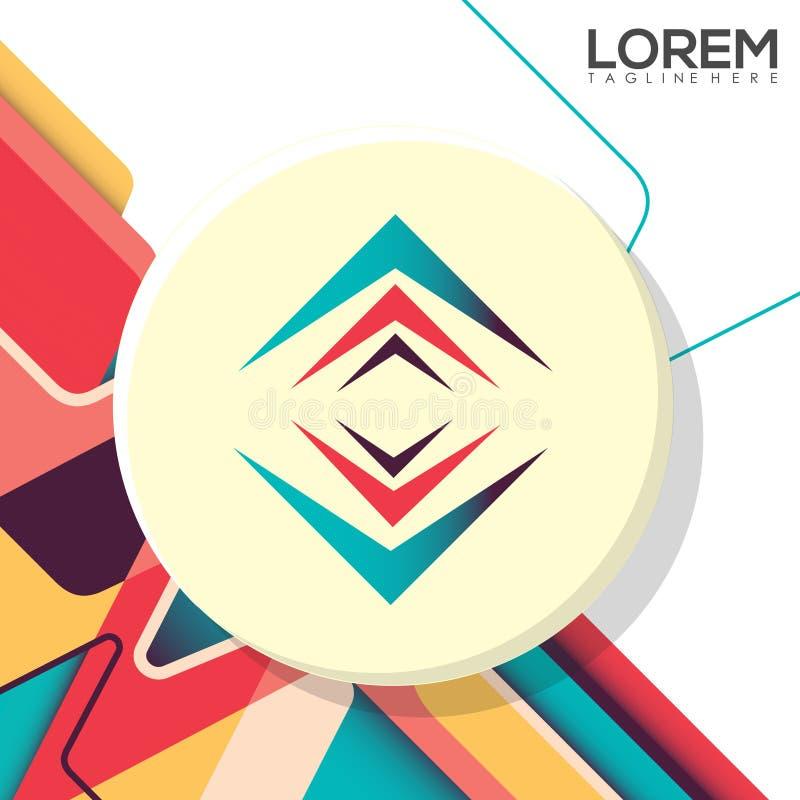 Kolorowego Kreatywnie projekta loga Biznesowa Wektorowa ilustracja zdjęcia royalty free