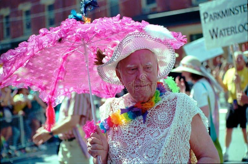 kolorowego mężczyzna stara parady tęcza Toronto zdjęcie stock