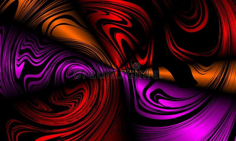Kolorowego plamy abstrakcjonistycznego tła wektorowy projekt, kolorowy zamazany ocieniony tło, żywa koloru wektoru ilustracja royalty ilustracja
