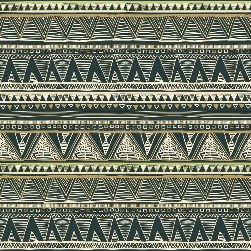 Kolorowego rocznika bezszwowy wzór z kwiecistych i mandala elementami sporządzić tła ręka Może używać dla tkaniny, tapeta, płytka royalty ilustracja