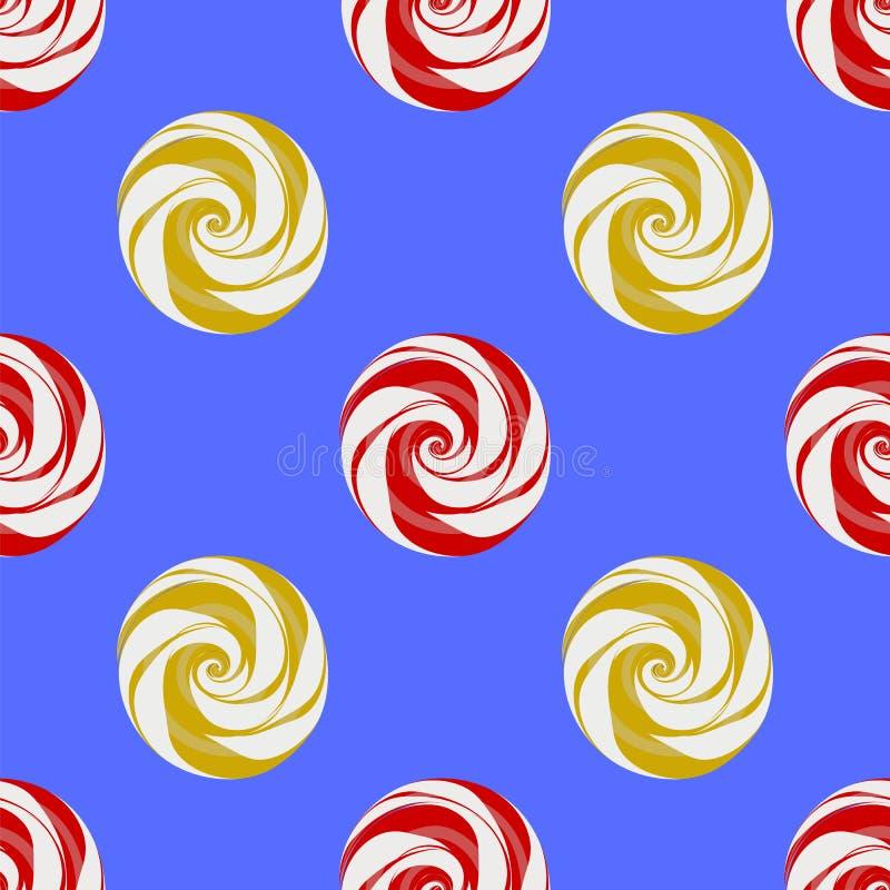 Kolorowego Słodkiego cukierku Bezszwowy wzór ilustracja wektor