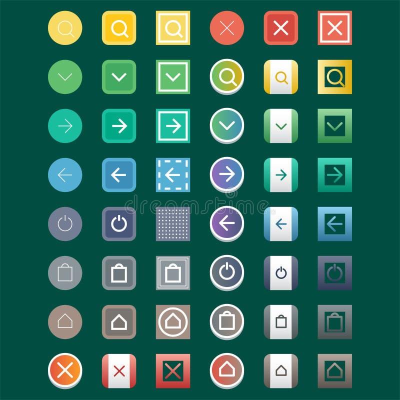 Kolorowego strony internetowej sieci guzików projekta etykietki wektorowy ilustracyjny glansowany graficzny internet potwierdza s ilustracja wektor