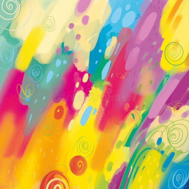 Kolorowego sztuka projekta tła Abstrakcjonistyczny Nowożytny wzór ilustracji