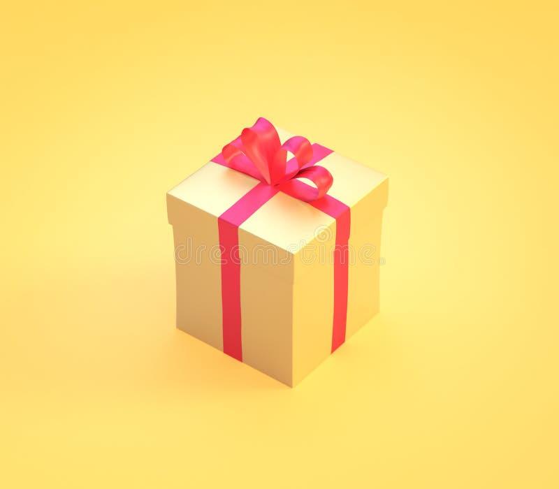 Kolorowego teraźniejszości pudełka isometric ikona zdjęcie royalty free