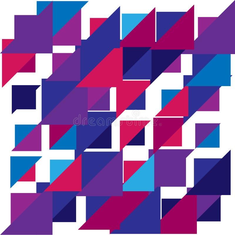 Kolorowego trójboka geometryczny rozrzucony tło wektor royalty ilustracja