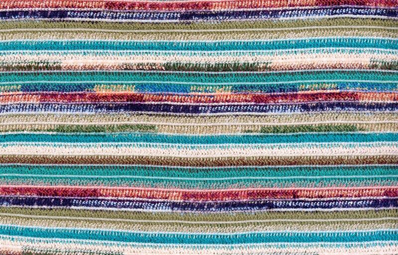 Kolorowego trykotowego pasiastego tekstury tła abstrakcjonistyczny bezszwowy wzór fotografia royalty free