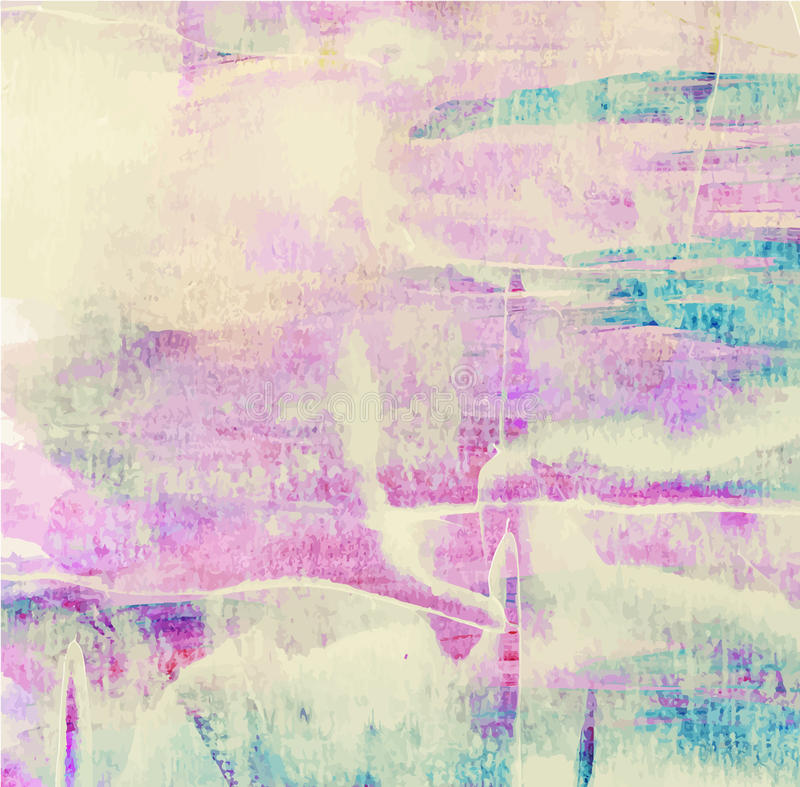 Kolorowej abstrakcjonistycznej akwareli akrylowy obraz ilustracji