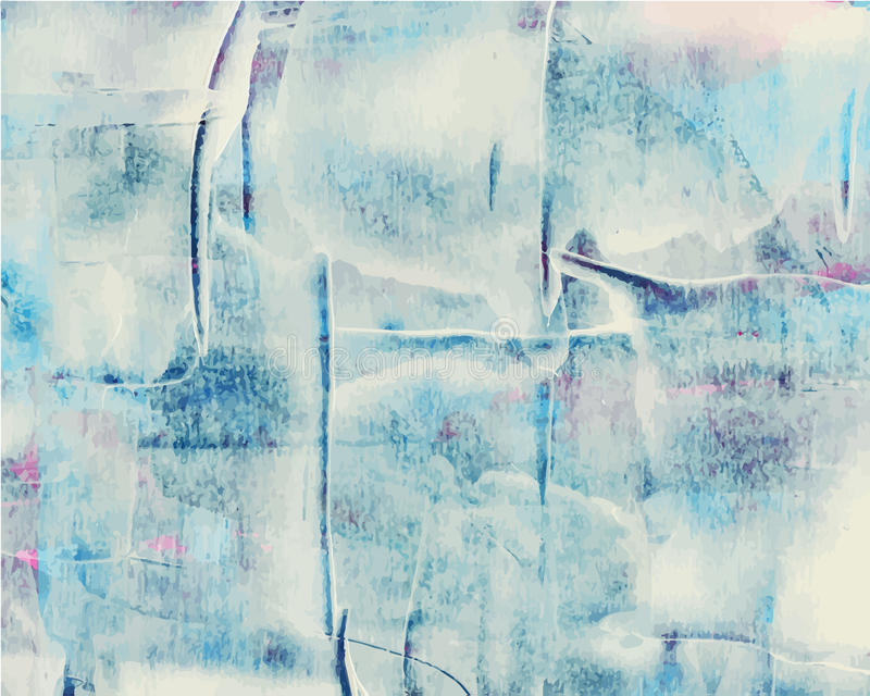 Kolorowej abstrakcjonistycznej akwareli akrylowy obraz ilustracja wektor