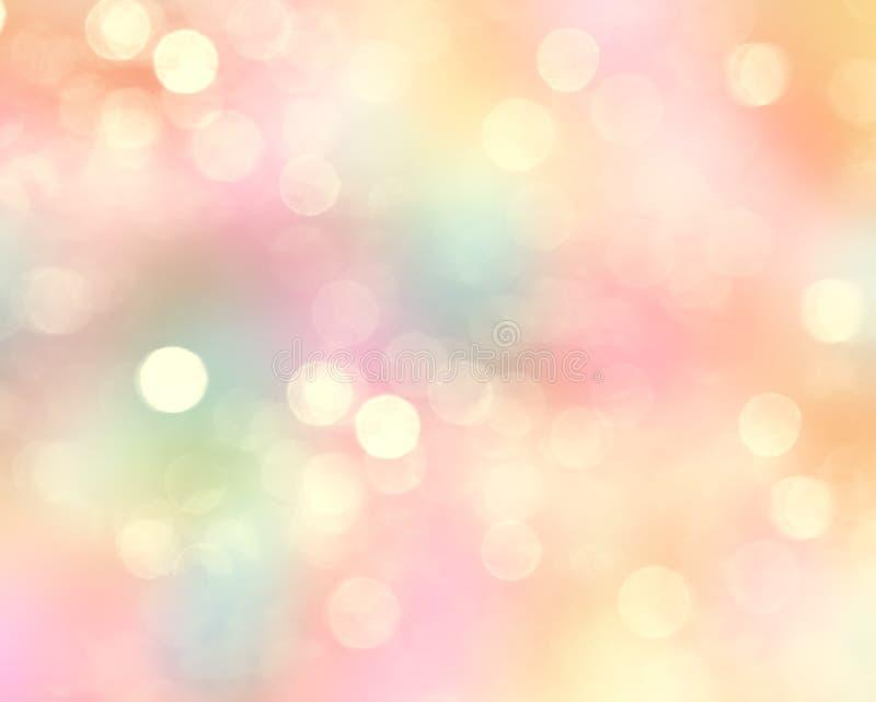 Kolorowej błyskotliwości wiosny zamazany Wielkanocny tło royalty ilustracja