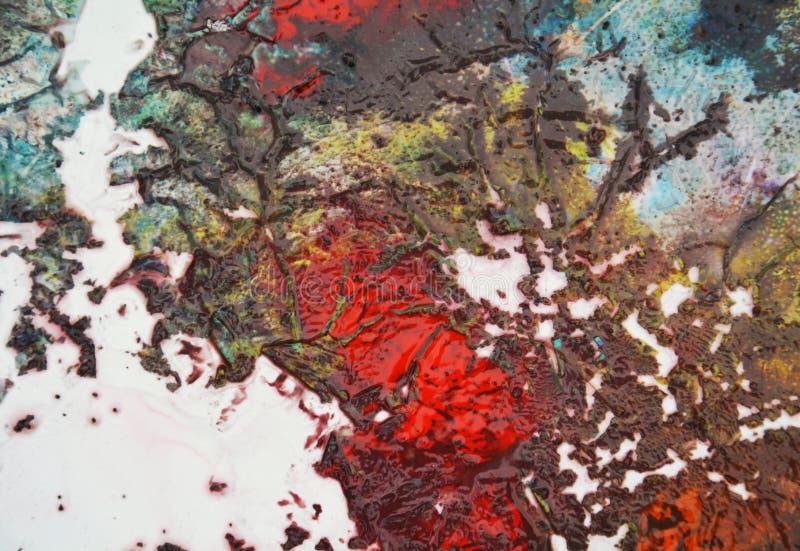 Kolorowej jesieni żywy tło, malujący akwareli tło, maluje abstrakcjonistycznych kolory zdjęcia royalty free