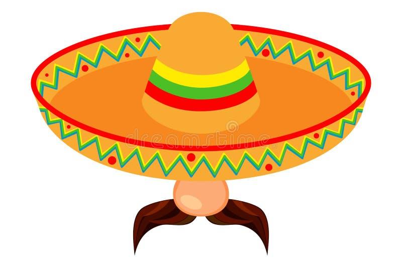 Kolorowej kreskówki mężczyzny meksykański avatar royalty ilustracja
