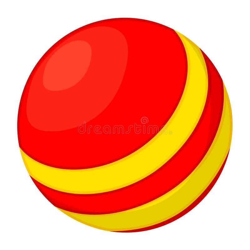 Kolorowej kreskówki piłki gumowa zabawka royalty ilustracja