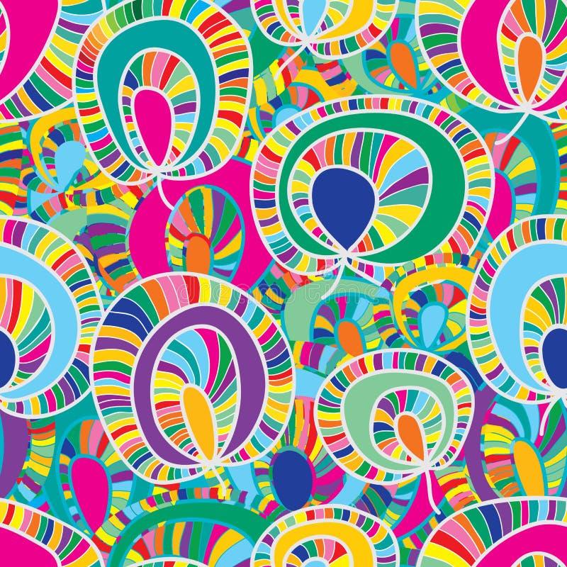 Kolorowej rośliny tkaniny bezszwowy wzór royalty ilustracja