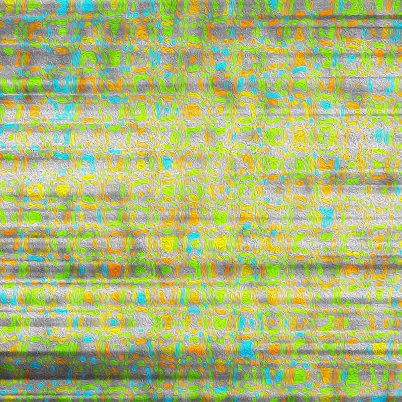 Kolorowej sztuki współczesnej nafcianej farby projekta abstrakcjonistyczny tapetowy backgro ilustracji