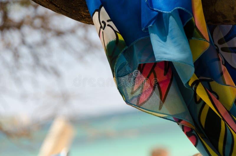 Kolorowej tkaniny otokowy spokój Waialea plaża obraz royalty free