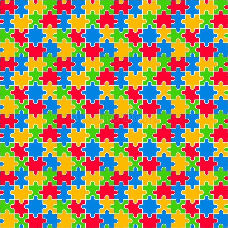 Kolorowej wyrzynarki Bezszwowy wzór ilustracji