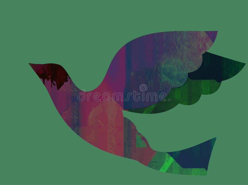 Kolorowi abstrakcjonistyczni neonowi kształty Abstrakcjonistyczna Futurystyczna tapeta ilustracji