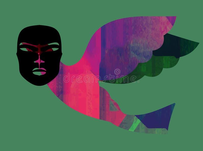 Kolorowi abstrakcjonistyczni neonowi kształty Abstrakcjonistyczna Futurystyczna tapeta royalty ilustracja