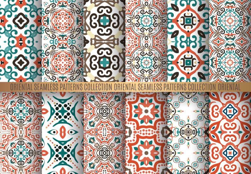 Kolorowi arabesk wzory royalty ilustracja