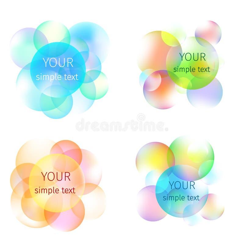 Download Kolorowi bąble ilustracji. Ilustracja złożonej z grafika - 53781615