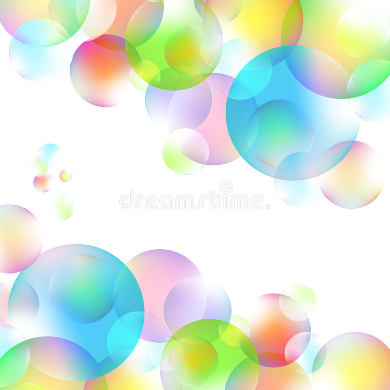 Download Kolorowi bąble ilustracji. Ilustracja złożonej z okrąg - 53781722