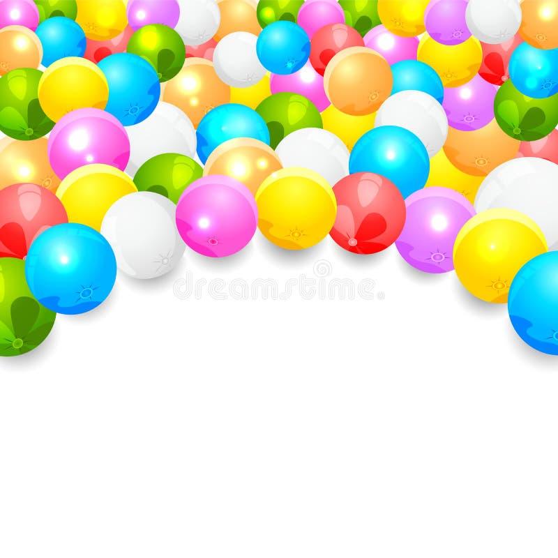 Kolorowi balony royalty ilustracja