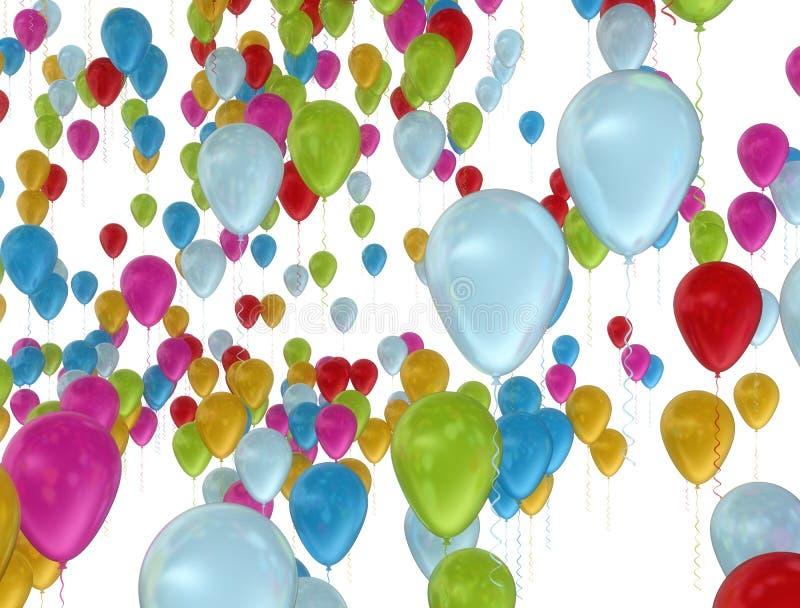 Kolorowi balony lata świętowania tło royalty ilustracja