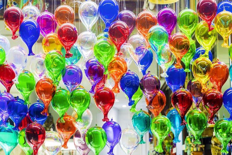 Kolorowi balony Murano szkło fotografia royalty free