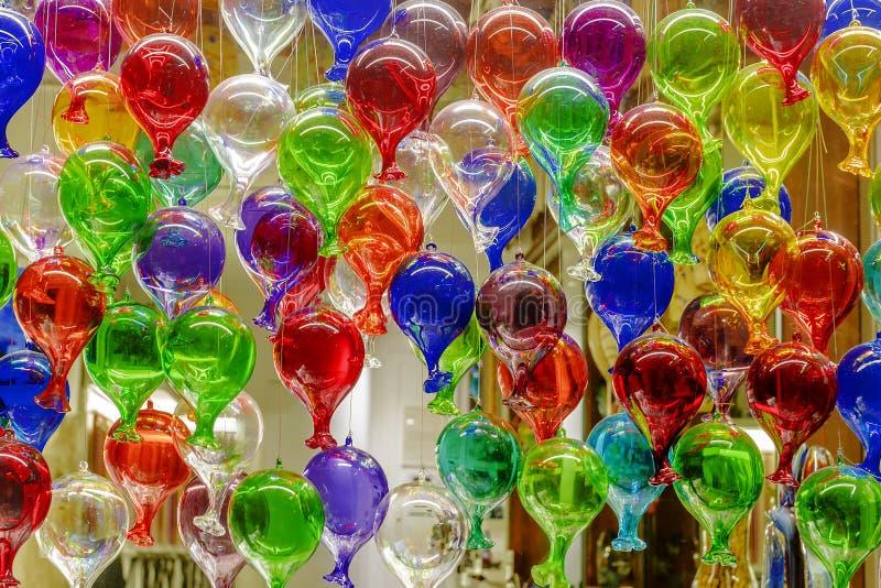 Kolorowi balony Murano szkło zdjęcia stock