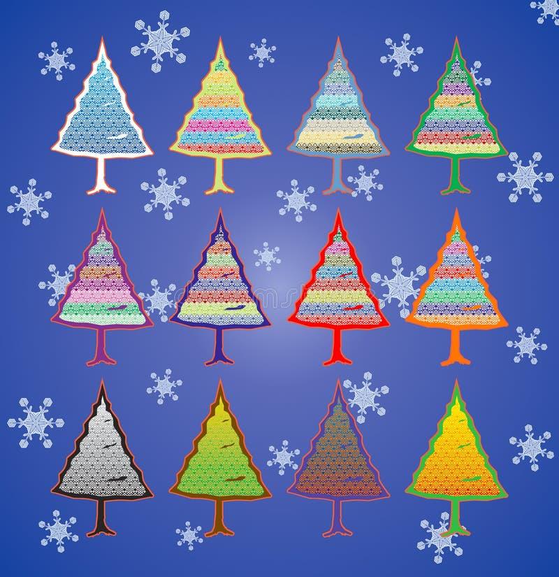kolorowi Bożych Narodzeń drzewa obrazy stock