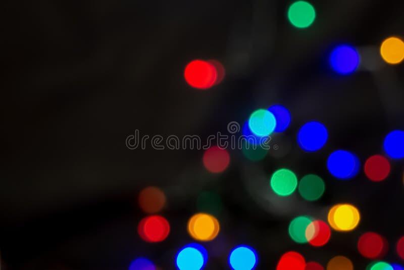 kolorowi bokeh światła abstrakcjonistyczni Świąt tło zdjęcie stock