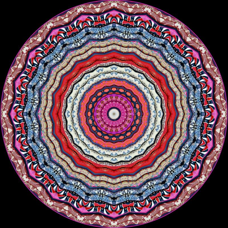 Kolorowi chińscy chopsticks widzieć przez kalejdoskopu ilustracja wektor