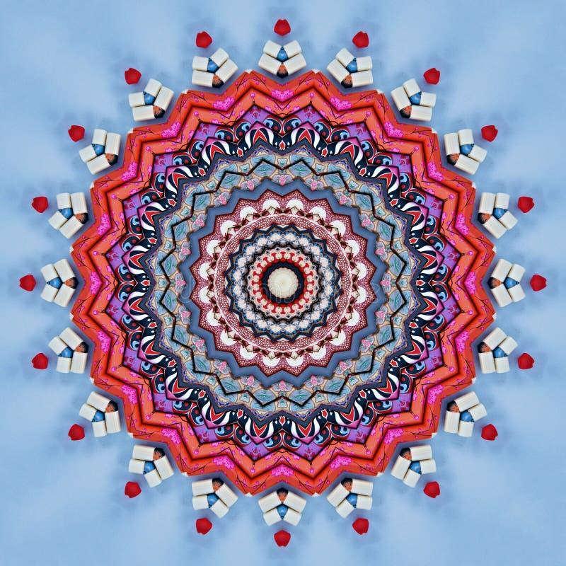 Kolorowi chińscy chopsticks widzieć przez kalejdoskopu ilustracji
