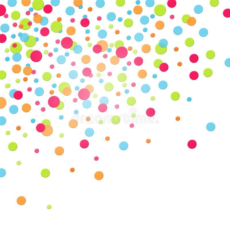 kolorowi confetti ilustracja wektor