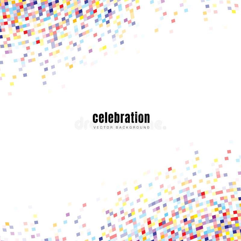 Kolorowi confetti elementy odizolowywający na białym tle z przestrzenią dla twój teksta Ty możesz używać dla świętowania przyjęci royalty ilustracja