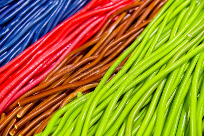 Kolorowi cugar cukierków kije obraz stock