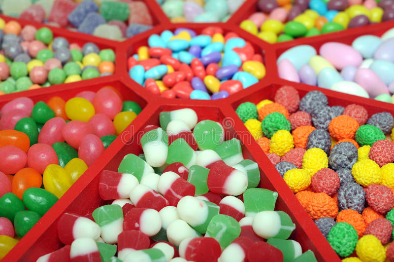 Kolorowi cukierki fotografia stock