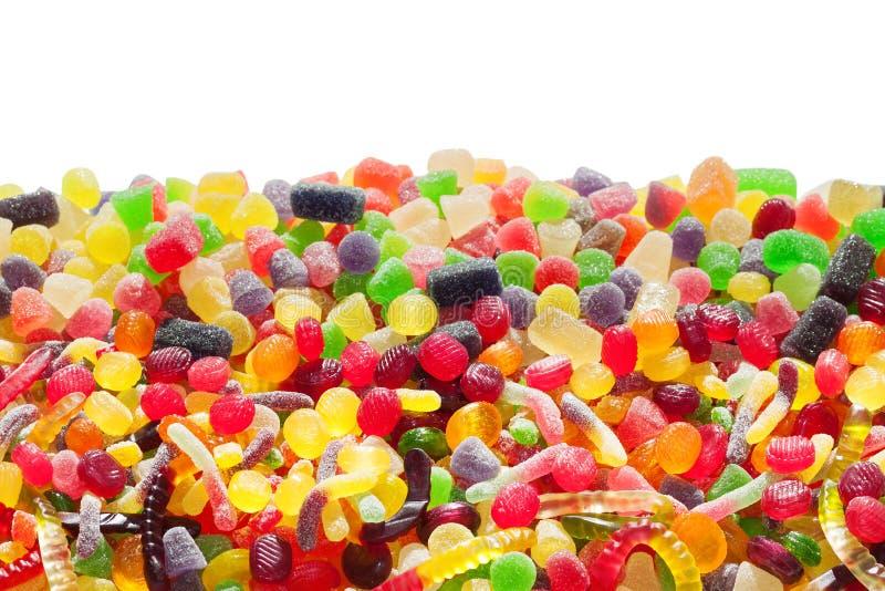 Kolorowi cukierki odizolowywający na białym tle obraz stock