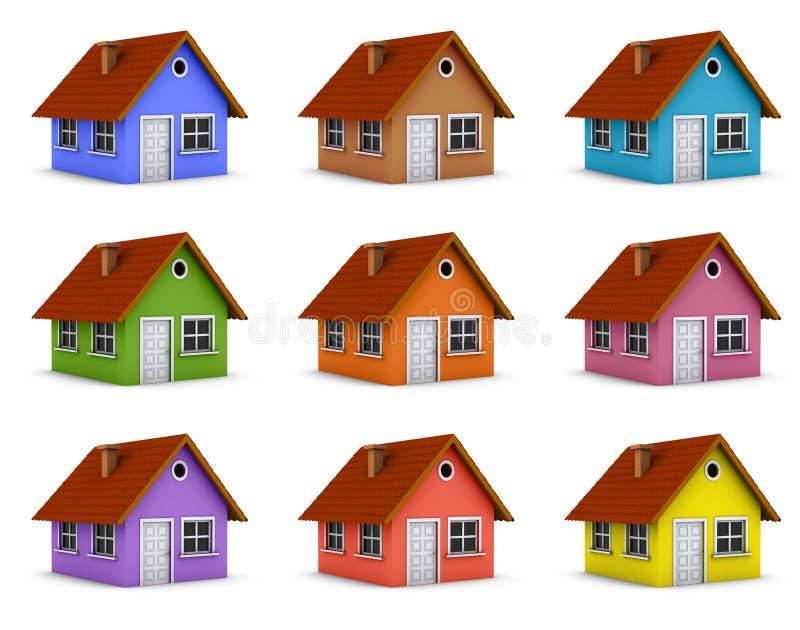 kolorowi domy ilustracja wektor